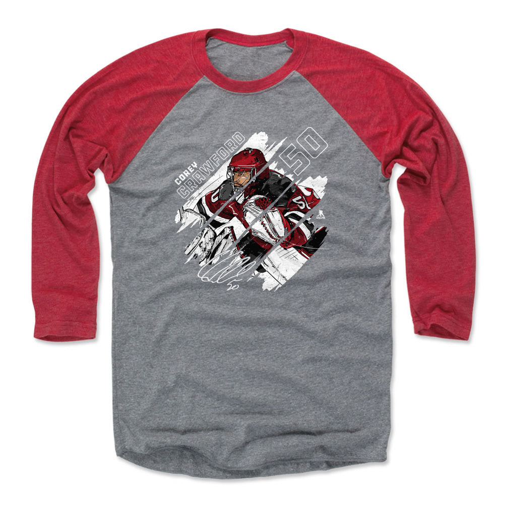 Corey Crawford Men's Baseball T-Shirt | 500 LEVEL