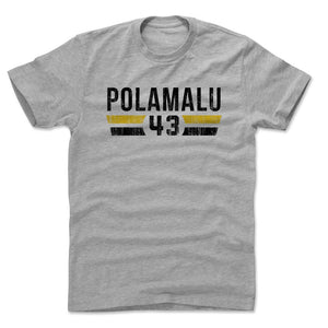 Troy Polamalu Men's Cotton T-Shirt | 500 LEVEL