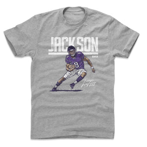 Lamar Jackson Men's Cotton T-Shirt | 500 LEVEL