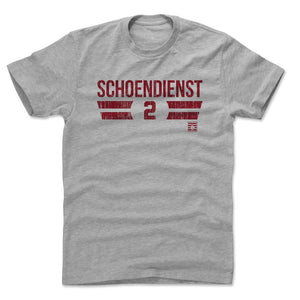 Red Schoendienst Men's Cotton T-Shirt | 500 LEVEL