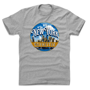 Manhattan Men's Cotton T-Shirt | 500 LEVEL