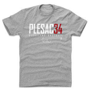 Zach Plesac Men's Cotton T-Shirt | 500 LEVEL