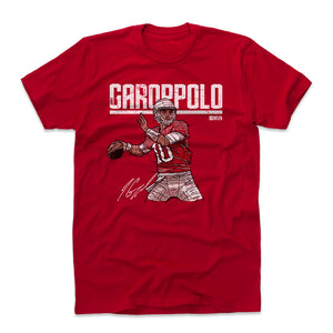 Jimmy Garoppolo Men's Cotton T-Shirt | 500 LEVEL