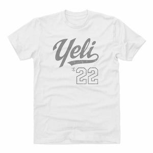 Christian Yelich Men's Cotton T-Shirt | 500 LEVEL
