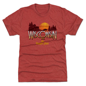 Wisconsin Men's Premium T-Shirt | 500 LEVEL