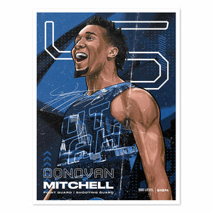 Donovan Mitchell Poster | 500 LEVEL