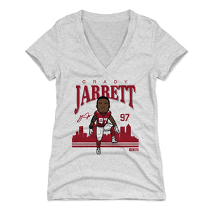 Grady Jarrett Women's V-Neck T-Shirt | 500 LEVEL