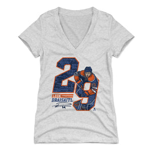 Leon Draisaitl Women's V-Neck T-Shirt | 500 LEVEL