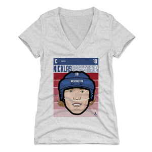 Nicklas Backstrom Women's V-Neck T-Shirt | 500 LEVEL
