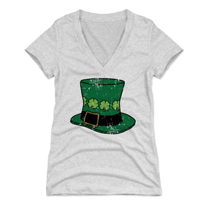 St. Patrick's Day Leprechaun Women's V-Neck T-Shirt | 500 LEVEL