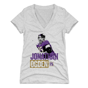 Jonathan Ogden Women's V-Neck T-Shirt | 500 LEVEL