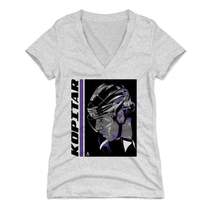 Anze Kopitar Women's V-Neck T-Shirt | 500 LEVEL