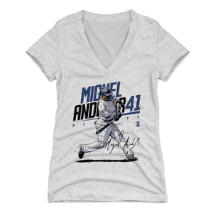 Miguel Andujar Women's V-Neck T-Shirt | 500 LEVEL