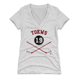 Jonathan Toews Women's V-Neck T-Shirt | 500 LEVEL