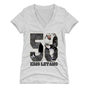 Kris Letang Women's V-Neck T-Shirt | 500 LEVEL
