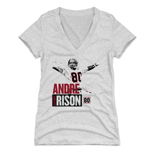 Andre Rison Women's V-Neck T-Shirt | 500 LEVEL