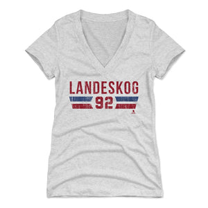Gabriel Landeskog Women's V-Neck T-Shirt | 500 LEVEL