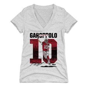 Jimmy Garoppolo Women's V-Neck T-Shirt | 500 LEVEL