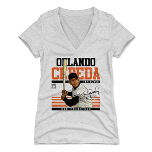 Orlando Cepeda Women's V-Neck T-Shirt | 500 LEVEL