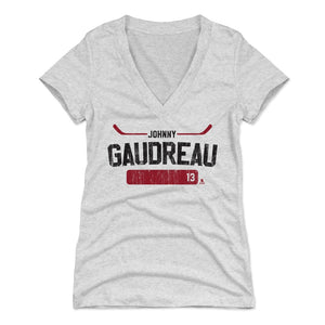Johnny Gaudreau Women's V-Neck T-Shirt | 500 LEVEL