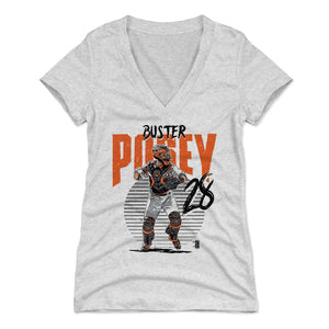 Buster Posey Women's V-Neck T-Shirt | 500 LEVEL
