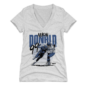 Aaron Donald Women's V-Neck T-Shirt | 500 LEVEL