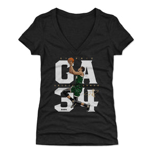 Giannis Antetokounmpo Women's V-Neck T-Shirt | 500 LEVEL