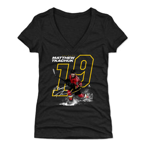 Matthew Tkachuk Women's V-Neck T-Shirt | 500 LEVEL