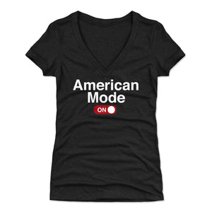 Funny USA Women's V-Neck T-Shirt | 500 LEVEL