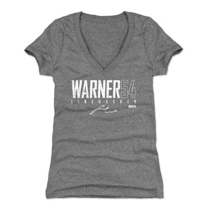Fred Warner Women's V-Neck T-Shirt | 500 LEVEL