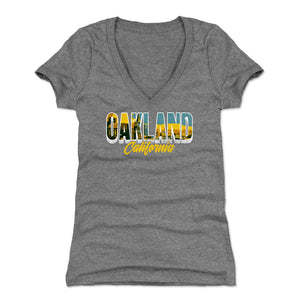 Oakland Women's V-Neck T-Shirt | 500 LEVEL