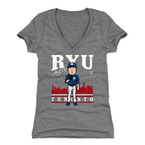 Hyun-Jin Ryu Women's V-Neck T-Shirt | 500 LEVEL