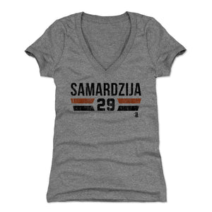 Jeff Samardzija Women's V-Neck T-Shirt | 500 LEVEL