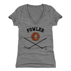 Cam Fowler Women's V-Neck T-Shirt | 500 LEVEL