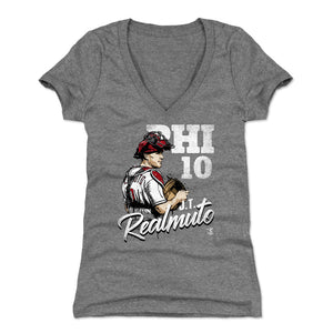 J.T. Realmuto Women's V-Neck T-Shirt | 500 LEVEL
