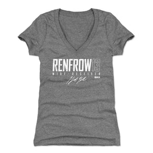 Hunter Renfrow Women's V-Neck T-Shirt | 500 LEVEL