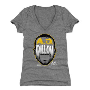 A.J. Dillon Women's V-Neck T-Shirt | 500 LEVEL