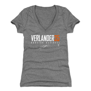 Justin Verlander Women's V-Neck T-Shirt | 500 LEVEL