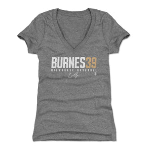 Corbin Burnes Women's V-Neck T-Shirt | 500 LEVEL