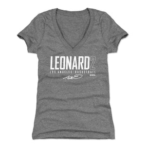 Kawhi Leonard Women's V-Neck T-Shirt | 500 LEVEL