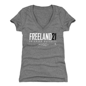 Kyle Freeland Women's V-Neck T-Shirt | 500 LEVEL