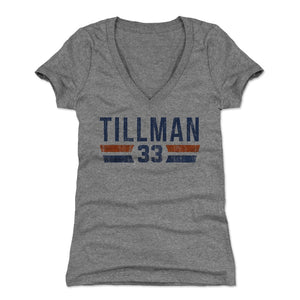 Charles Tillman Women's V-Neck T-Shirt | 500 LEVEL