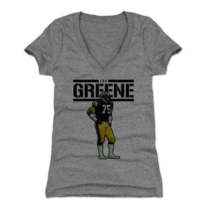 Mean Joe Greene Women's V-Neck T-Shirt | 500 LEVEL