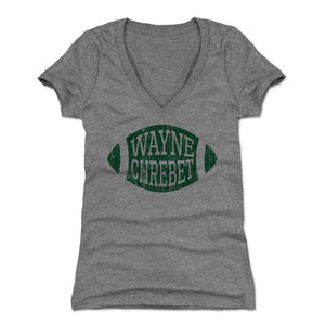 Wayne Chrebet Women's V-Neck T-Shirt | 500 LEVEL
