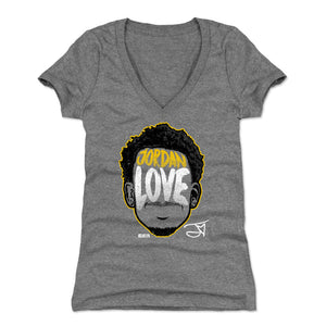 Jordan Love Women's V-Neck T-Shirt | 500 LEVEL