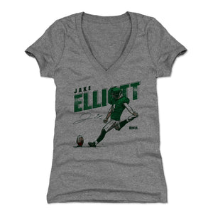 Jake Elliott Women's V-Neck T-Shirt | 500 LEVEL