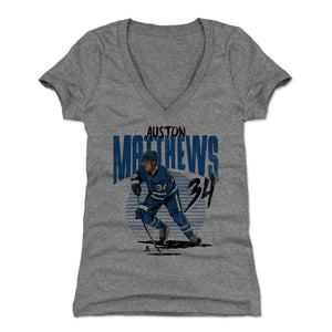 Auston Matthews Women's V-Neck T-Shirt | 500 LEVEL