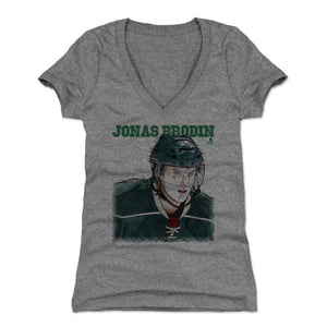 Jonas Brodin Women's V-Neck T-Shirt | 500 LEVEL