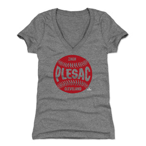 Zach Plesac Women's V-Neck T-Shirt | 500 LEVEL