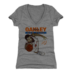 Charles Oakley Women's V-Neck T-Shirt | 500 LEVEL
